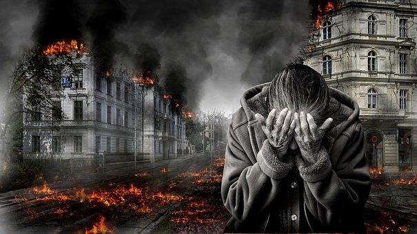War, Destruction, Despair, Fear, Helplessness, Kummer
