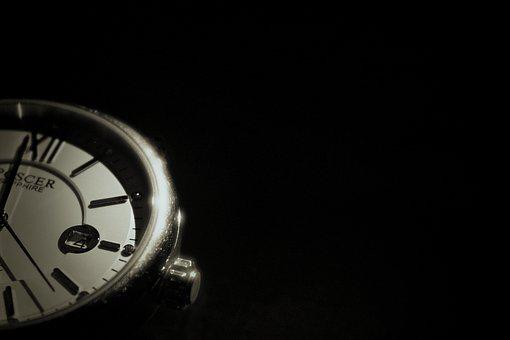 Time, Watch, Black And White, Warm Colors, Old, Black