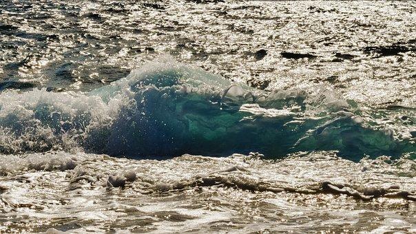Wave, Splash, Liquid, Splashing, Light, Sunshine