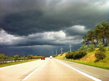 Highway, Thunderstorm, Weather, Mecklenburg, Sky