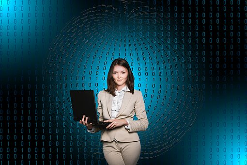 Businesswoman, Woman, Female, Person, Connection, Data