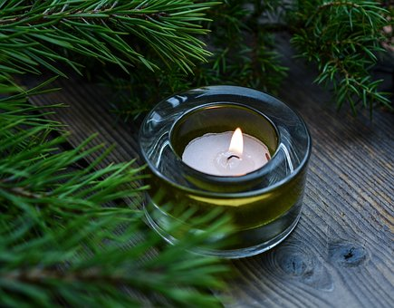 Christmas, Pine, Candle, Wood, Merry, Wishes, Xmas