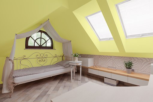 Yellow, Room, Bed, Interior, Design, Home, Modern