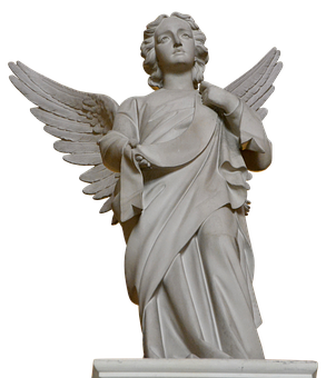 Angel, Sculpture, Wing, Stone, Art, Cemetery, Figure