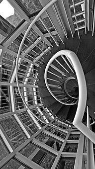 Stairs, Black And White, Architecture, Gradually