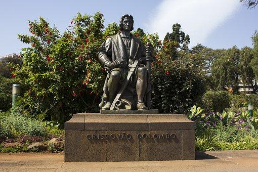 Madeira, Cristavo Colombo, Bronze, Figure, Statue, Art
