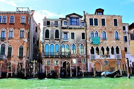 Venice, Italy, Architecture, Palace, Buildings, Facade