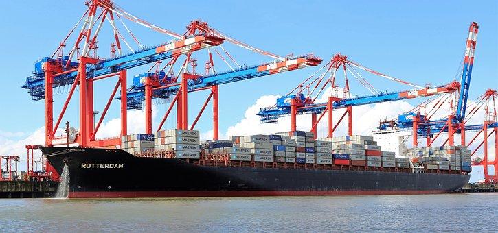 Ship, Shipyard, Harbour Cranes, Container, Transport
