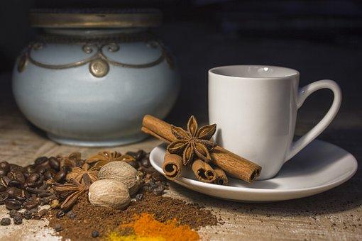 Coffee Cup, Cup, Spice, Cinnamon, Anise, Nutmeg