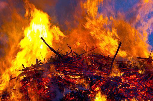 Easter Fire, Fire, Flame, Customs