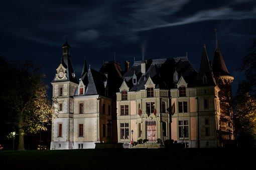 Night, Castle, Dark, Thun, Long Exposure, Atmosphere