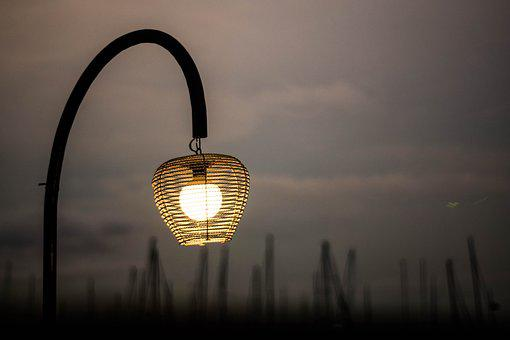 Lamp, Night, Light, City, Decoration, Street