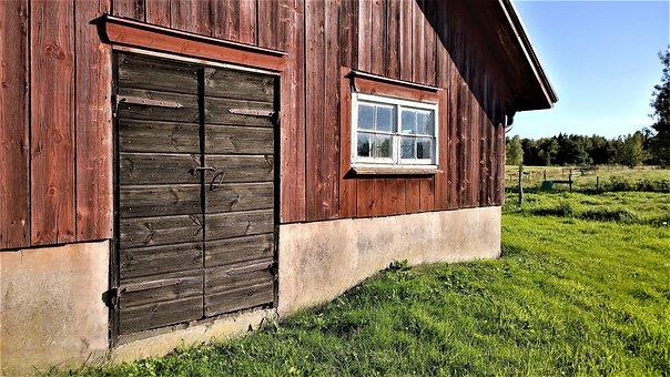 Barn, Farmhouse, Stall, Door, Window, Country