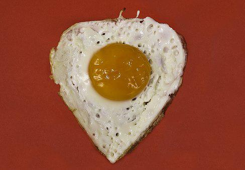 Egg, Fried, Yolk, Heart Shaped, Heart, Protein, Baked