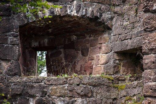Castle, Fortress, Embrasure, Old