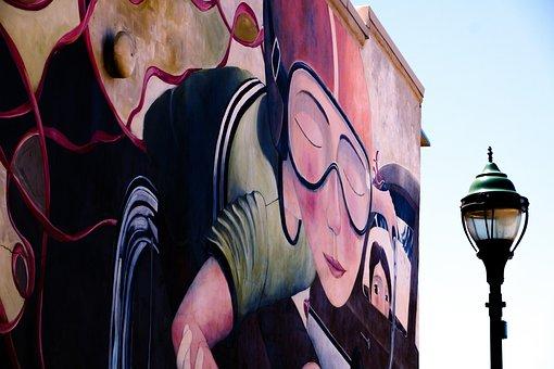 Graffiti, Street Art, Artistic, Funky, Concrete, Modern