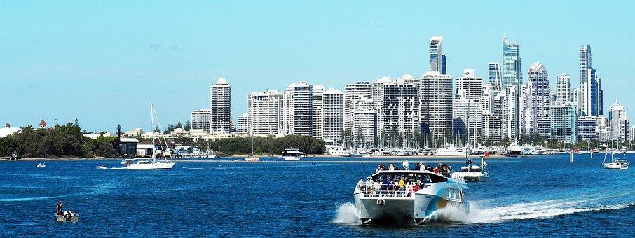Gold Coast, Australia, Sea, Cruise, Ocean, Boats