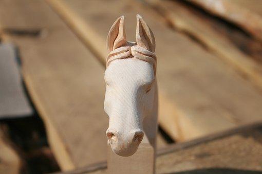 Woodcarving, Horse, Mongolia