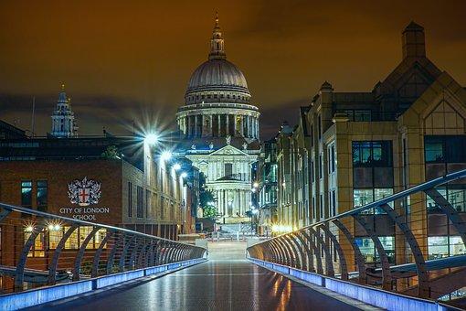 London, United Kingdom, St Pauls, Landmark, Cityscape