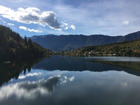 View, Lake, South Tyrol, Montiglersee, Landscape
