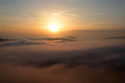 Sunrise, Morning Sun, Morning Mist, Sun, Landscape