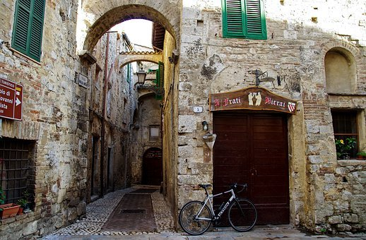 Old Houses, Middle Ages, San Gemini, Umbria, Italy