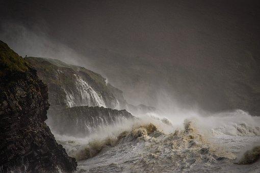 Sea, Ireland, Storm