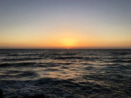 Sunset, Tel Aviv, Sea, Israel, Sky, Summer