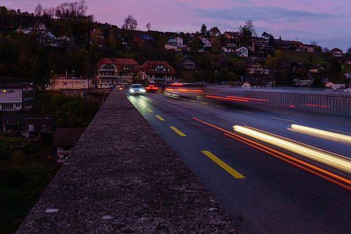 Lighttrail, Traffic, Motion, Light, Road, Street