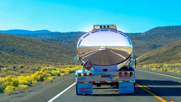 Way, Truck, City, Highway, View, Transport, Traffic
