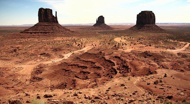 Monument Valley, Usa, Arizona, Rocks, Sandstone Towers