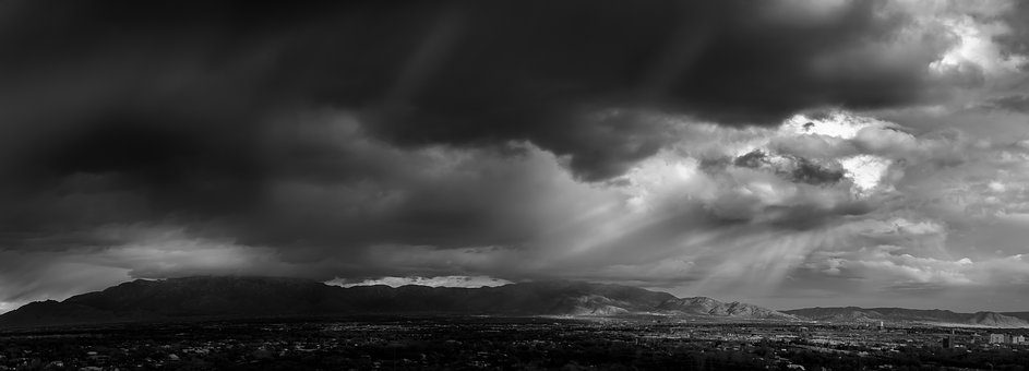 Mountain, Storm, Panorama, Landscape, Outdoor, Weather