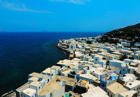 Greece, Kos, Nisyro, Nisyros, Houses, White Houses