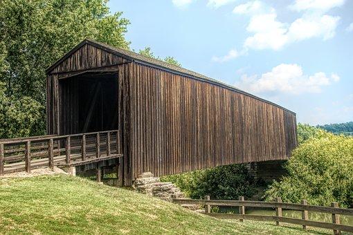 Bridge, Wooden, Nature, Landscape, Water, Wood, Outdoor
