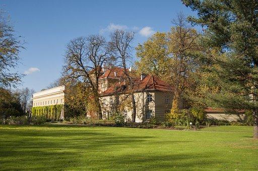 łańcut, The Town Of łańcut, Autumn, Castle, Park