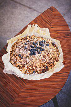 Food, Drinks, Blueberries, Blueberry, Cake, Crumble