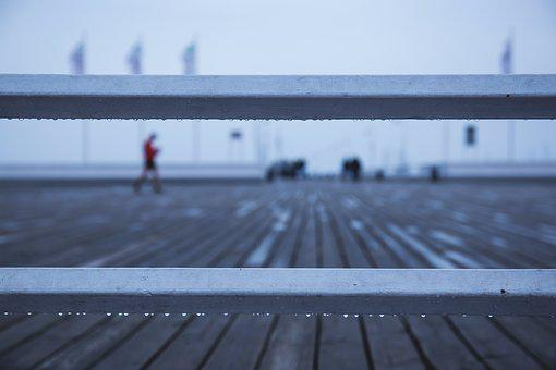 People, Bridge, Jetty, Pier, Quay, Rain, Rainy, Sea