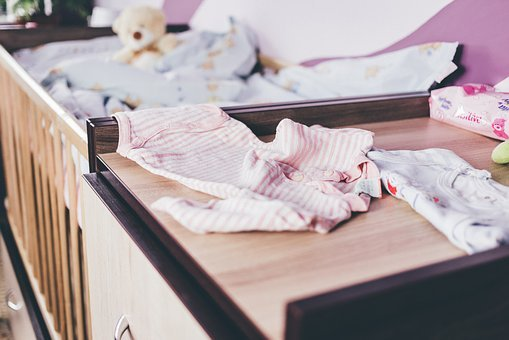Baby, Bear, Bed, Blue, Change, Child, Children, Clothes