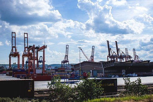 City, Architecture, Baltic, Cargo, Container