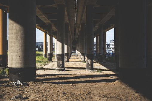 City, Architecture, Bridge, Column, Columns, Overpass