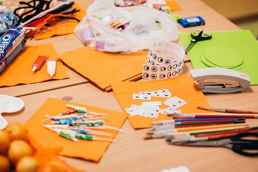 Art, Bright, Brush, Child, Children, Classroom