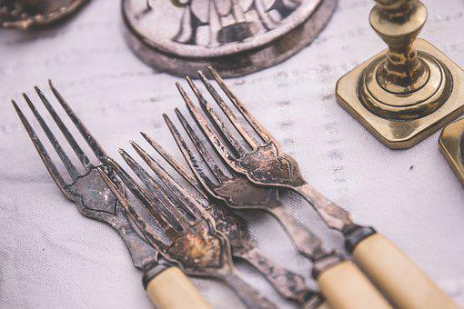 Antique, Brown, Classic, Damaged, Dirty, Fork, Metal
