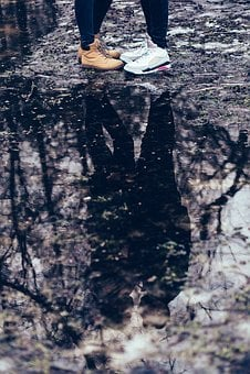 Nature, People, Autumn, Boy, Couple, Dark, Date, Facing