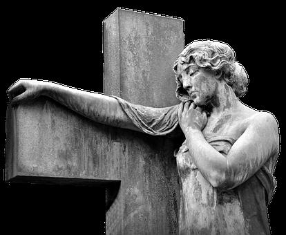 Cross, Angel, Sculpture, Statue, Faith, Religion, Holy