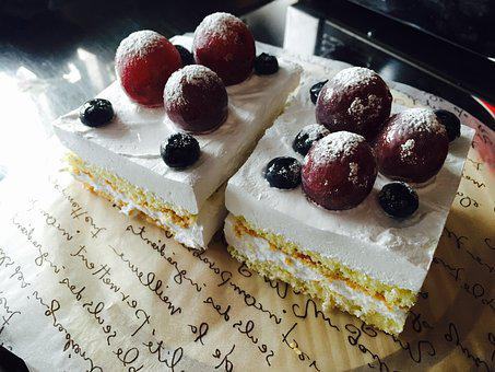 Cake, Fruit Cake, Raisin Cake