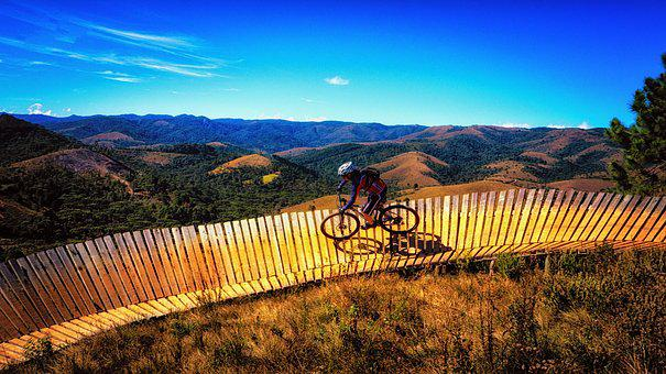 Bike, Adventure, Adrenaline, Sky, Hill, Mountain