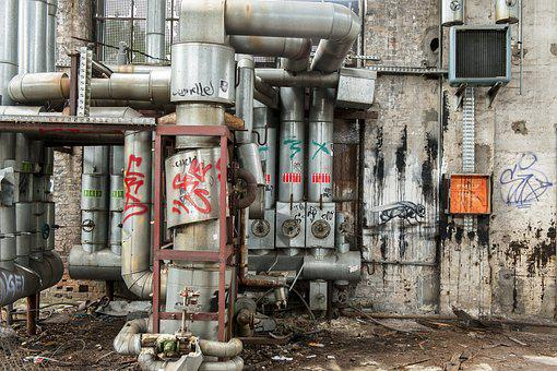Lost Place, Industrial Plant, Lapsed, Leave
