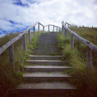 Stairway, Seaside, Sea, Coast, Beach, Nature, Landscape