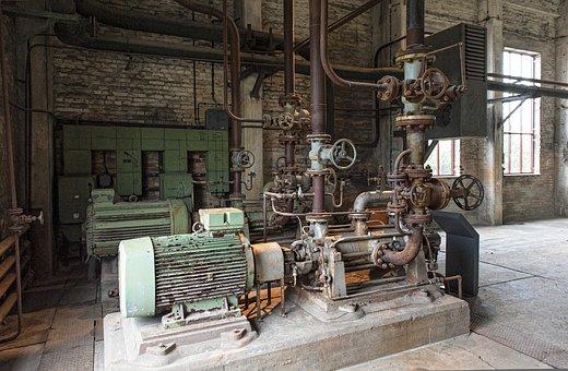 Usedom, Peenemünde, Power Plant, Lapsed