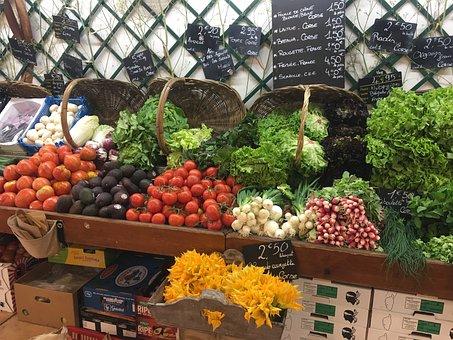 Vegetables, Market, Spain